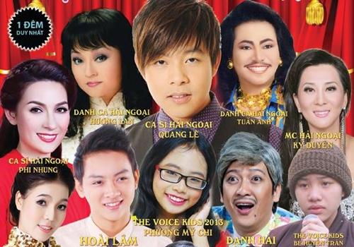 Nhiều ca sĩ nổi tiếng góp mặt trong Liveshow Quang Lê