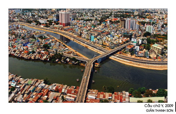 Cầu chữ Y trong bộ ảnh Sài Gòn nhìn từ trên không trung của Giản Thanh Sơn