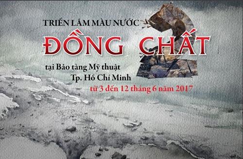Banner Triển lãm Đồng chất lần 2 tại Bảo tàng Mỹ thuật TP.HCM