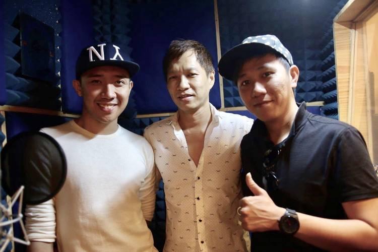 Nhạc sĩ Nguyễn Minh Anh (giữa) cùng với Trấn Thành (trái) và Anh Đức