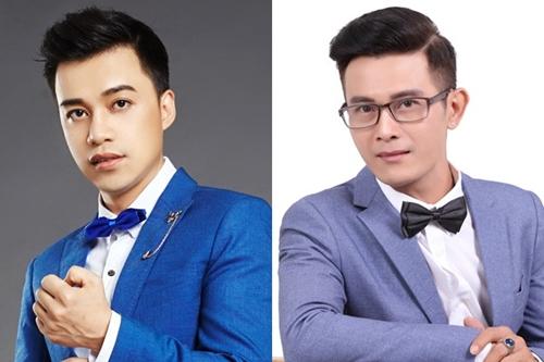 Nhạc sĩ Bùi Trọng Nghĩa (trái) và ca sĩ Nam Huy
