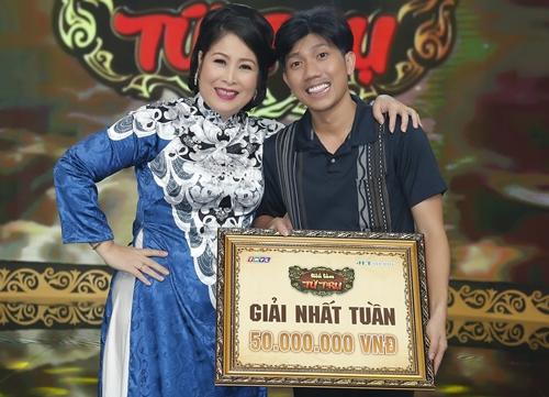 NSND Hồng Vân chúc mừng học trò Di Dương đoạt giải Nhất tuần