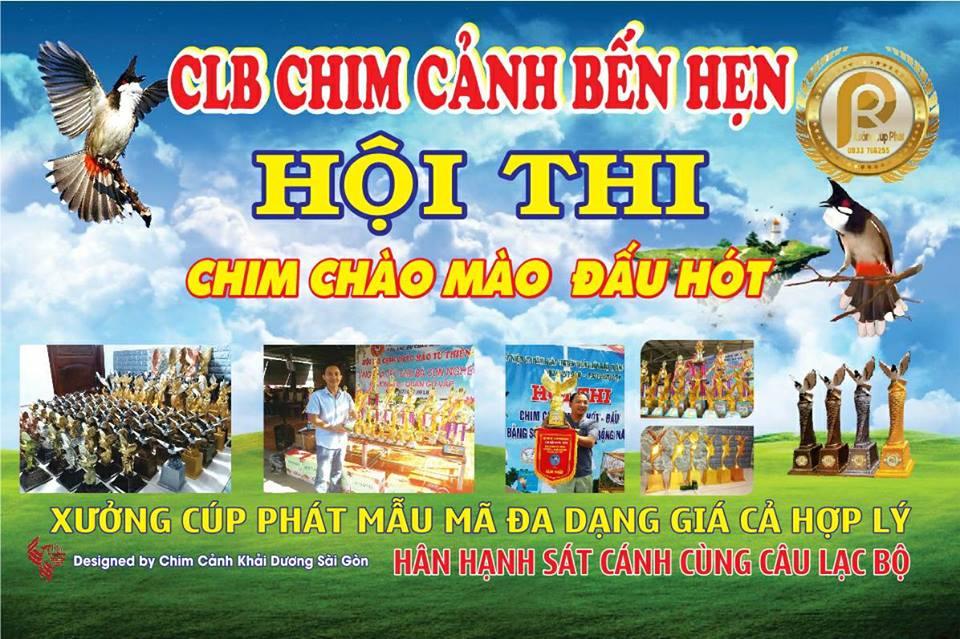 Poster cuộc thi chim Chào mào đấu hót tại Bến Hẹn