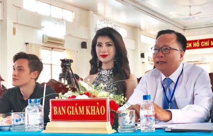 Á hậu Lê Kiều Nhung trên hàng ghế giám khảo