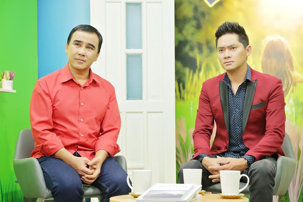 Diễn viên Minh Luân và MC Quyền Linh