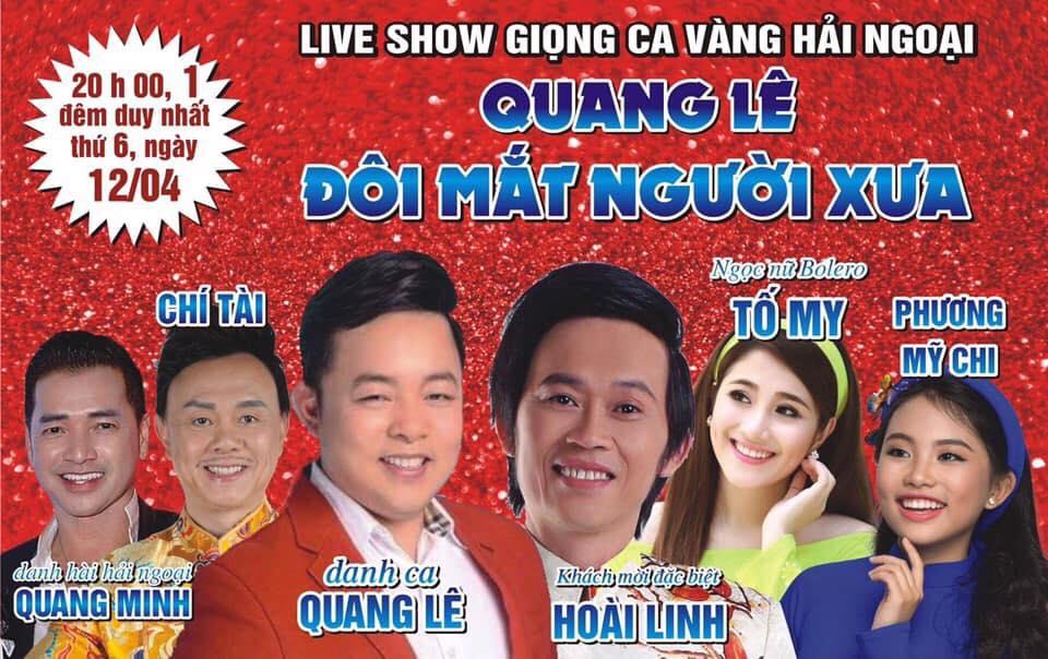 """Poster Liveshow Quamng Lê """"Đôi mắt người xưa"""" tại sân khấu Trống Đống"""