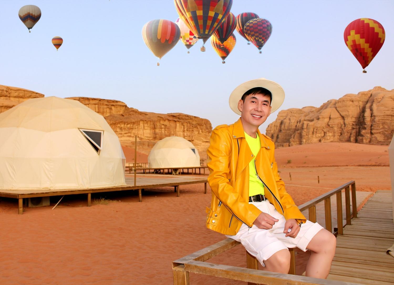 Ca sĩ Đoan Trường tại Sa mạc đỏ Wadi Rum, Jordan