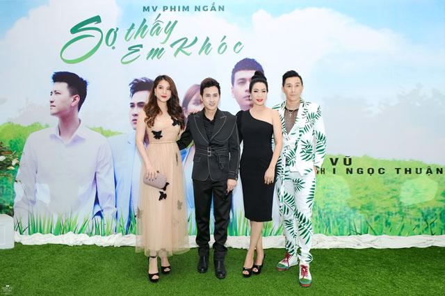 Trịnh Kim Chi, Trương Ngọc Ánh chụp ảnh cùng Nguyên Vũ và người mẫu Nam Phong