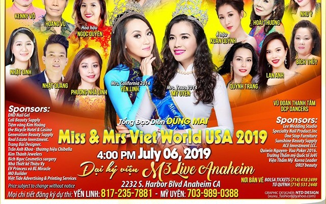 Hoa hậu Yến Linh và Hoa hậu Mỹ Uyên - 2 đồng trưởng BTC cuộc thi Miss & Mrs Viet World USA 2019