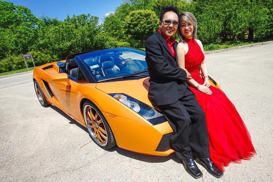 Hoa hậu Sandy Nguyễn cùng chồng bên siêu xe đáng mơ ước