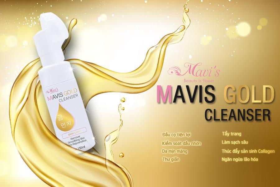 Sữa rửa mặt cọ vàng thương hiệu Mavi's