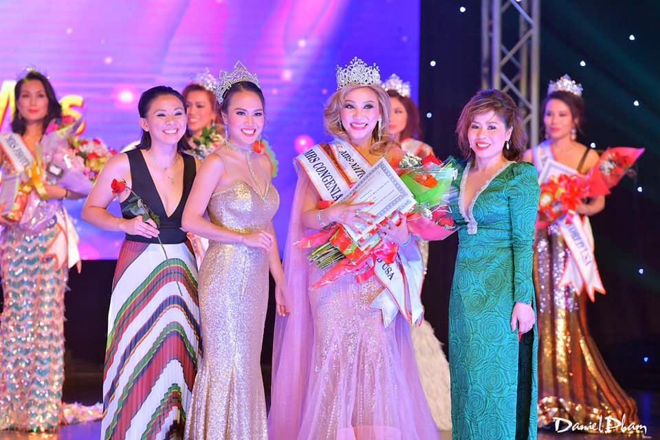 Nữ doanh nhân Lena La từng đoạt 2 giải Hoa hậu Thân thiện và Hoa hậu Áo dài