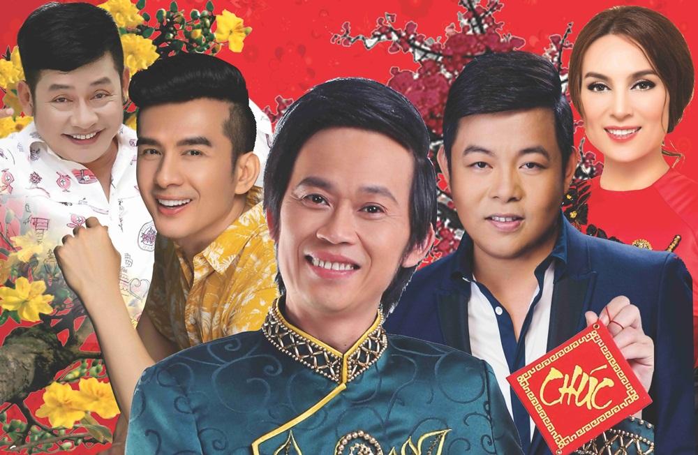 NSƯT Hoài Linh, Tấn Beo, Phi Nhung, Quang Lê, Đan Trường cùng đón năm mới tại Trống Đồng