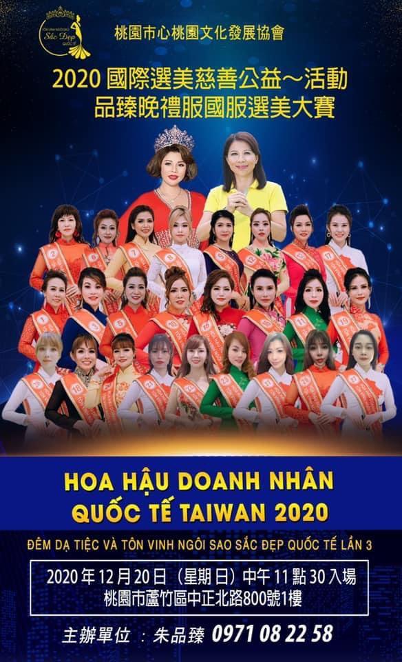 Hoa hau DN Taiwan 2020